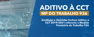 Aditivo à CCT 2019/2021 referente a MP 936